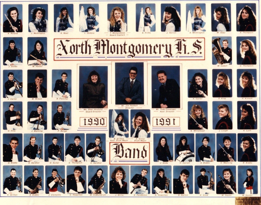 North Montgomery Band 1990-1991
